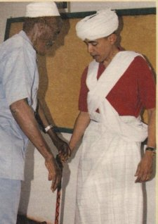 Obama slaughtering the old goat (Kenya)
