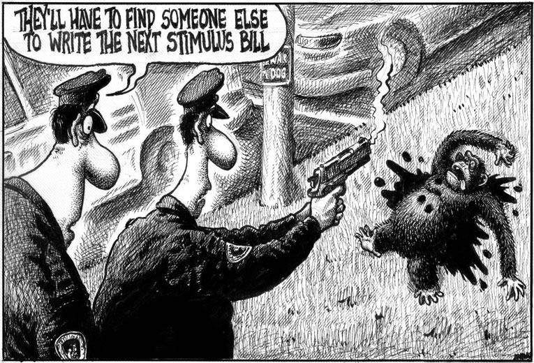 Libtards Going Ape Over Monkey Cartoon