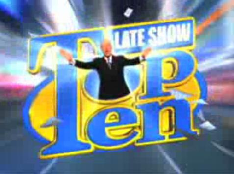how to make a david letterman top ten list