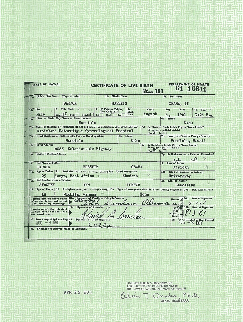 White house releases obamas long form birth certificate doctor rate this 1betcityfo Choice Image