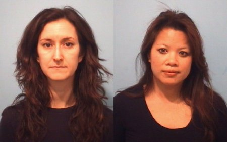 "Jennifer Stahl, left, and Malia ""Kim"" Bendis."