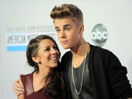 Justin Bieber with his Mother, Pattie Mallette
