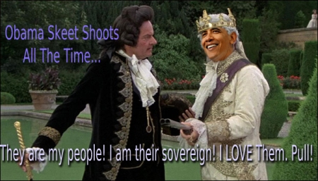 Obama Goes Skeet Shooting