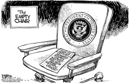 empty chair obama