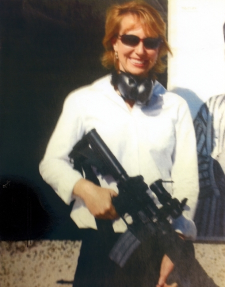 Gabby Giffords and AR-14 gun
